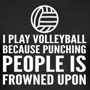 I play volleyball - Men's Slim Fit T-Shirt