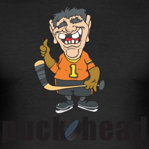 Hockey Puck Head - Men's Slim Fit T-Shirt
