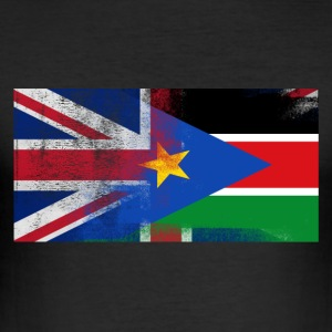 British Sudanese Half South Sudan Half UK Flag - Slim Fit T-shirt herr