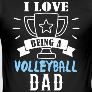 Volleyball dad - Tee shirt près du corps Homme