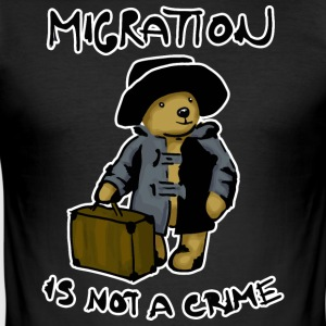 Migration Is Not A Crime - Men's Slim Fit T-Shirt
