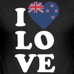 I love New Zealand - Tee shirt près du corps Homme