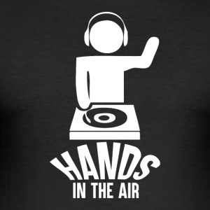 Hands in the Air - Music Passion - Men's Slim Fit T-Shirt