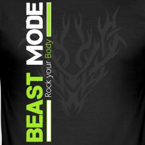 Tribal Beast Mode - Slim Fit T-skjorte for menn