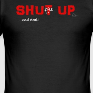 Shuffle up and deal! Poker T-Shirt - Men's Slim Fit T-Shirt