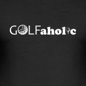 golf fanatikere - Slim Fit T-skjorte for menn