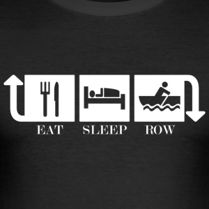 Eat Sleep Row Repeat - Men's Slim Fit T-Shirt