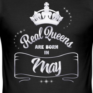 Queens May - Slim Fit T-shirt herr