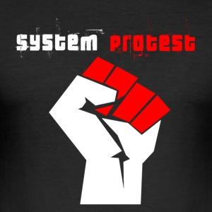 system protest - Men's Slim Fit T-Shirt