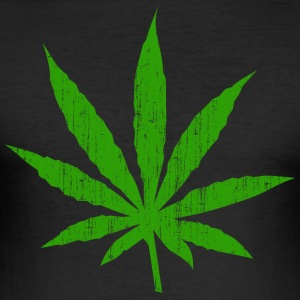 marihuana blad - Slim Fit T-skjorte for menn