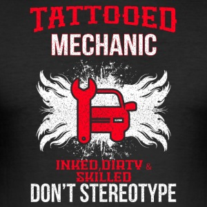 getatoeëerd mechanic - slim fit T-shirt
