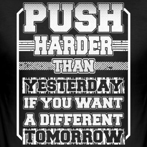Duw Harder Than Yesterday - slim fit T-shirt