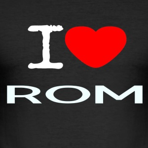 I LOVE ROM - Men's Slim Fit T-Shirt
