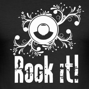 Rock it - Passion Music - Slim Fit T-shirt herr