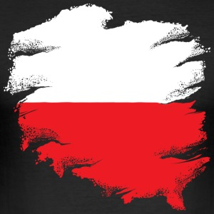 Polish Flag - Slim Fit T-skjorte for menn