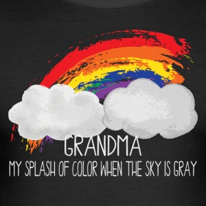 Grandma Is My Splash of Color When The Sky is Gray - Men's Slim Fit T-Shirt