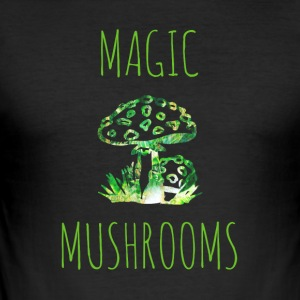 Magic mushrooms Magic Mushrooms Toadstool - Slim Fit T-skjorte for menn