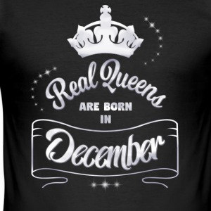 Queens December - Männer Slim Fit T-Shirt