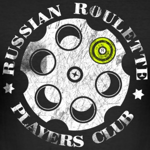 Russian Roulette Players Club - Männer Slim Fit T-Shirt