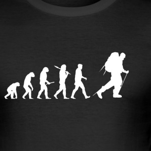 Evolution hiking! Vandring! Mountains! Klatring! - Herre Slim Fit T-Shirt