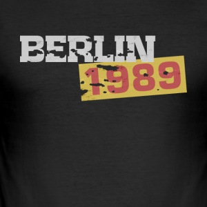 Berlin 1989 fall av väggen - Slim Fit T-shirt herr
