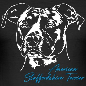 AMERICAN STAFFORDSHIRE TERRIER - Männer Slim Fit T-Shirt