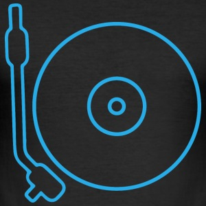 Turntable vinyl - musik - Männer Slim Fit T-Shirt