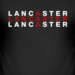 Lancaster United Kingdom Flag Shirt - Lancaster - Slim Fit T-shirt herr
