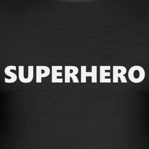 Superhero V1bkEN - Herre Slim Fit T-Shirt