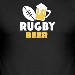 Rugby and beer - Männer Slim Fit T-Shirt