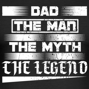 Papa! Far! Papi! Pappa! Legend! - Slim Fit T-skjorte for menn