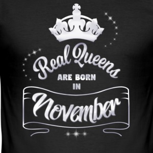 Queens November - Männer Slim Fit T-Shirt