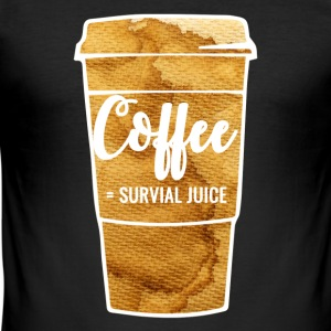 Coffee = survive - Men's Slim Fit T-Shirt