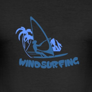windsurfing - Slim Fit T-skjorte for menn