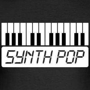 MUSIC synth-pop (1) - Camiseta ajustada hombre