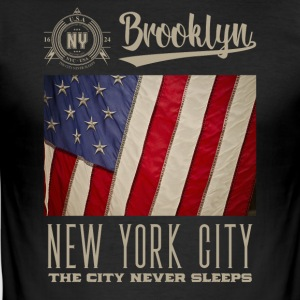New York City · Brooklyn - Maglietta aderente da uomo