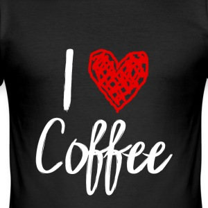 I love coffee - Men's Slim Fit T-Shirt