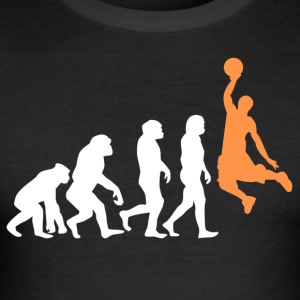 ++ Basketball Slam Dunk Evolution ++ - Slim Fit T-skjorte for menn