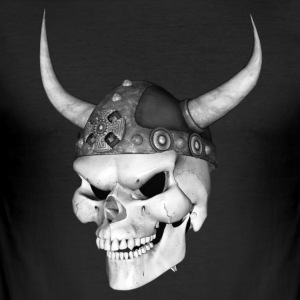 Viking Skull 3 - Herre Slim Fit T-Shirt