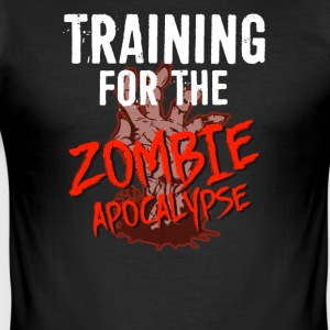 Training for the ZOMBIE APOCALYPSE T-Shirt - Men's Slim Fit T-Shirt