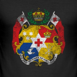 Tonga Coat of Arms Tonga Symbol - Men's Slim Fit T-Shirt