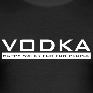 Vodka - happy vand - Herre Slim Fit T-Shirt
