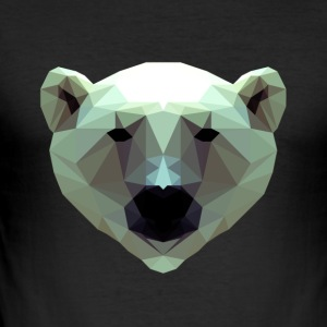 3D Polygon Design Bear Icebear T-Shirt Tee - Männer Slim Fit T-Shirt
