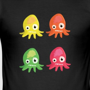 Octopus Brain - Men's Slim Fit T-Shirt