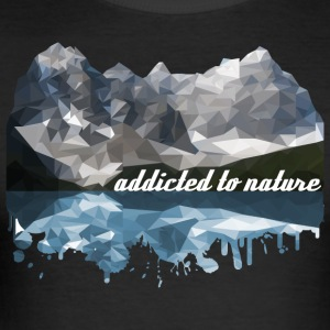 addicted to nature - Men's Slim Fit T-Shirt