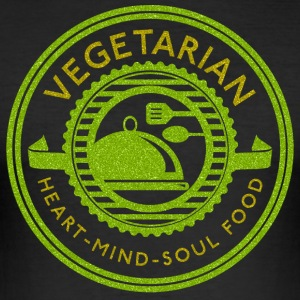Vegetarische Heart Mind Soul Food - slim fit T-shirt