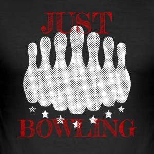 I dag, bare Bowling skjorte - Slim Fit T-skjorte for menn