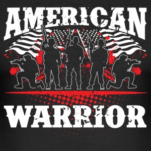 American Warrior! Veteranen! USA! - slim fit T-shirt