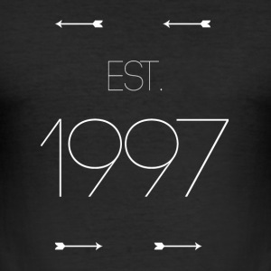 EST 1997 - Slim Fit T-skjorte for menn