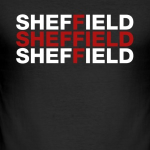 Sheffield United Kingdom Flag Shirt - Sheffield - Männer Slim Fit T-Shirt